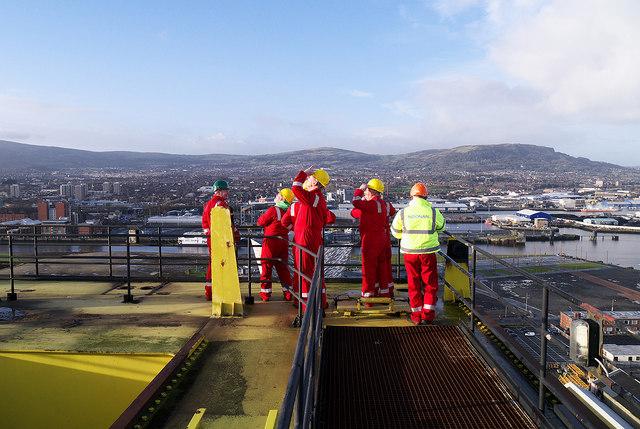 On top of 'Samson', Belfast