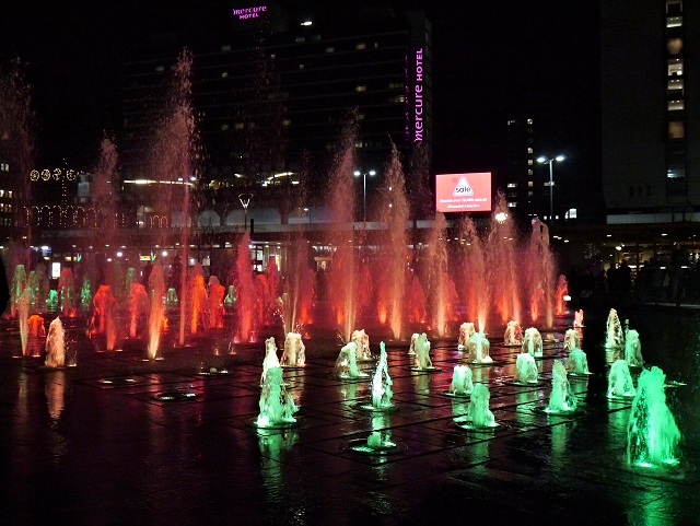 Piccadilly Gardens Fountains at Christmas (6)