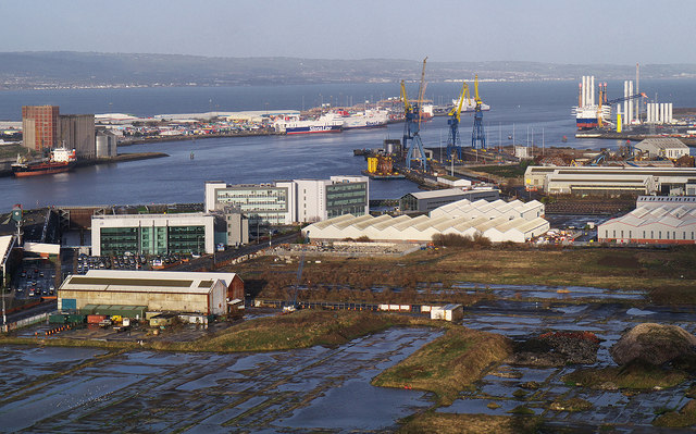 Belfast docks from 'Samson'