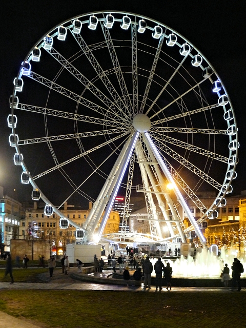 Manchester's Big Wheel, Piccadilly Gardens