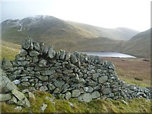 NY3412 : Wall above Grisedale Tarn by Michael Graham