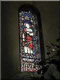 TQ1328 : St Nicholas Itchingfield: stained glass window (i) by Basher Eyre
