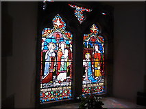 TQ1328 : St Nicholas, Itchingfield: stained glass window (iv) by Basher Eyre