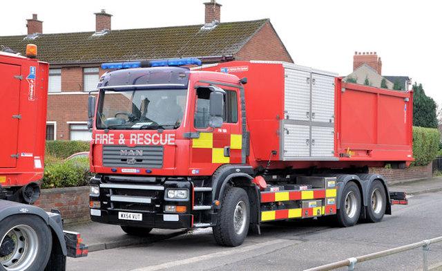 Fire appliance, Sydenham, Belfast (1)