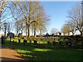 TL0027 : Grave yard at All Saints' Chalgrave by Bikeboy