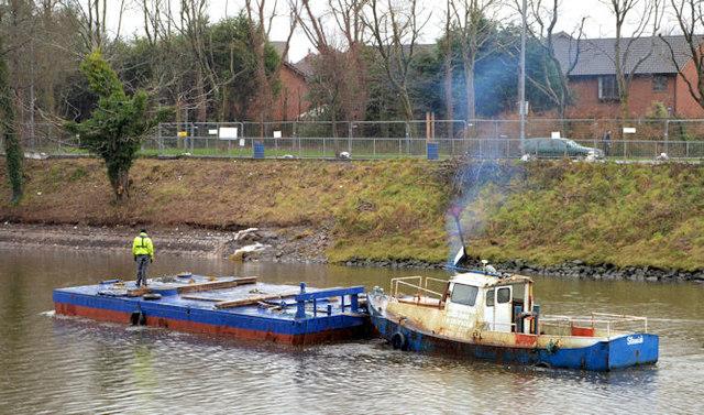 "The ""Slemish"", River Lagan, Belfast (3)"