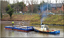 "J3371 : The ""Slemish"", River Lagan, Belfast (3) by Albert Bridge"