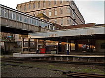 SX9193 : Lines, angles and shapes at Exeter Central Station by Roger A Smith