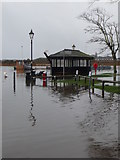SZ1592 : Christchurch: Town Quay is underwater by Chris Downer