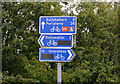 J6069 : National Cycle Network signs near Ballywalter by Albert Bridge