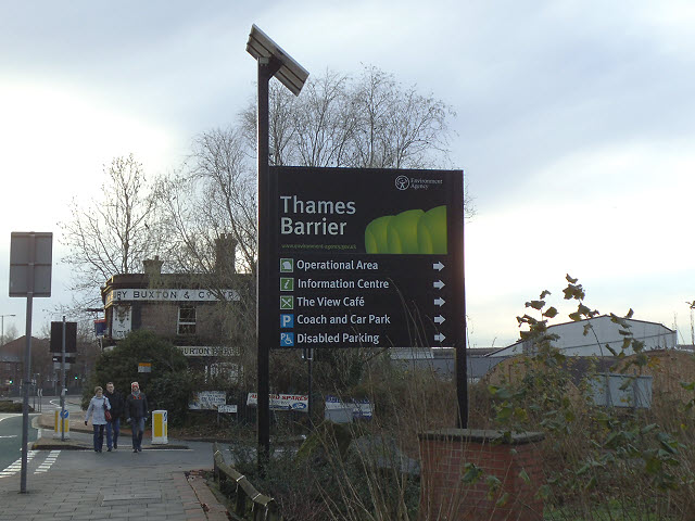 New signage for the Thames Barrier