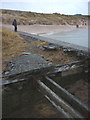 NU1535 : Derelict pier near Budle by Karl and Ali