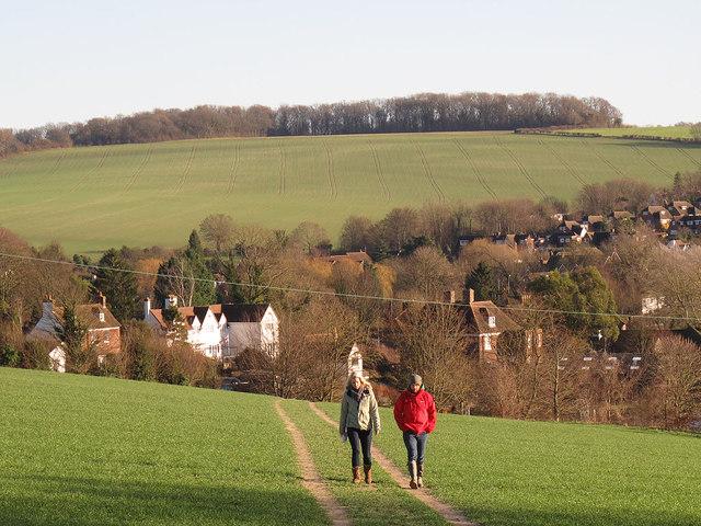 Footpath below the railway line