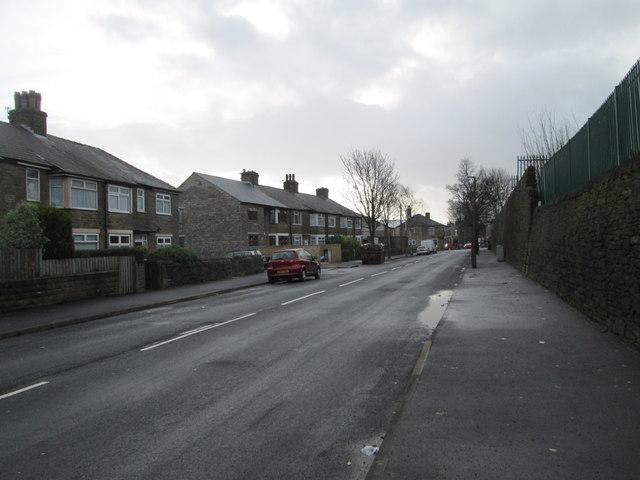 Westholme Road - looking towards Hopwood Lane