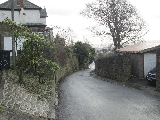 Trimmingham Lane - viewed from Plane Tree Nest Lane