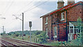 SE5814 : Site/remains of Moss station, East Coast Main Line, 1992 by Ben Brooksbank