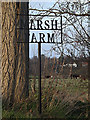 TM4274 : Marsh Farm sign by Adrian Cable