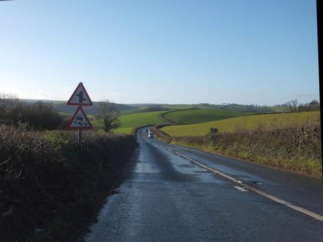 Looking towards the Dart valley