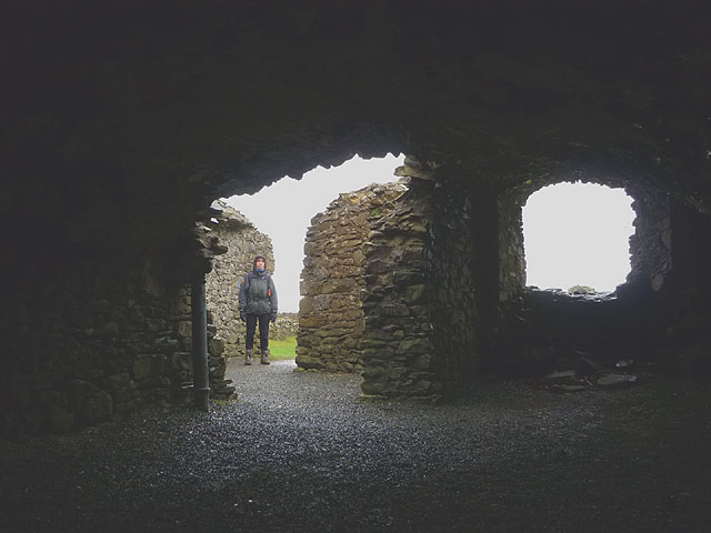 In the cellar of Kendal Castle