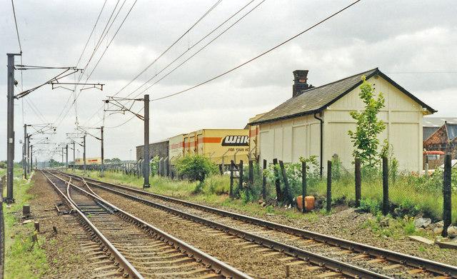 Site of former Ranskill station, East Coast Main Line 1992