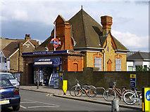 TQ2572 : Wimbledon Park station - street level by Robin Webster