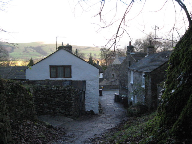 Castleton from the path to Cave Dale-Derbyshire