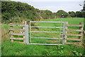 SR9496 : Gate, Castlemartin Trail by N Chadwick