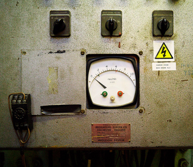 Control panel on 'Samson', Belfast