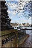 TQ3180 : The Queen's Walk, South Bank, London SE1 by Christine Matthews