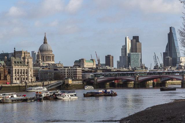 Blackfriars Bridge from the South Bank, London SE1
