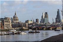 TQ3180 : Blackfriars Bridge from the South Bank, London SE1 by Christine Matthews