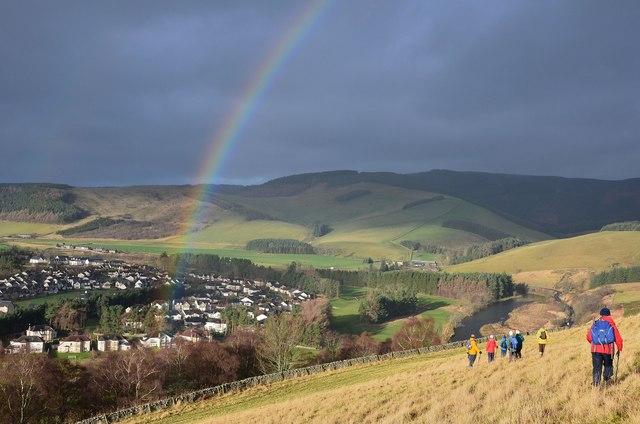 Rainbow over Cardrona