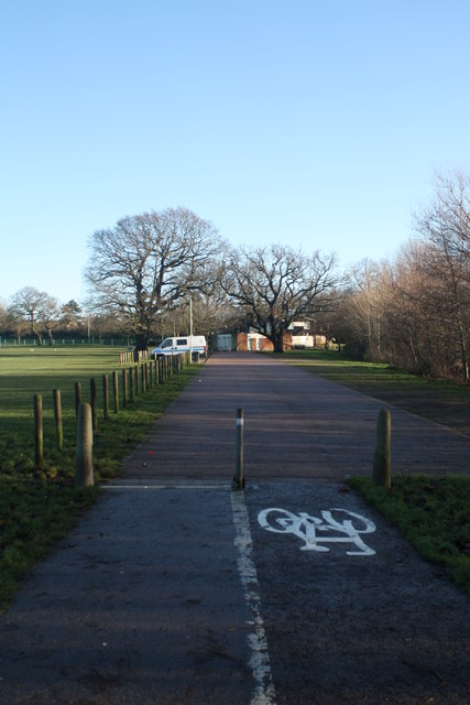 View towards Normanston Park cafeteria and car park