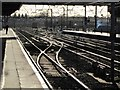 SE5703 : Rail Tracks at Doncaster Station by Andrew Tryon