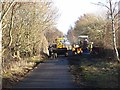 NZ2353 : Repair work on the Consett and Sunderland Railway Path by Oliver Dixon