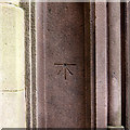 SD9205 : Bench mark on Church of St Mary and St Peter by Alan Murray-Rust