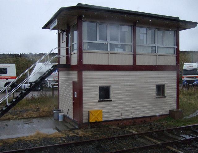 Signal box, Kirkby Steven Station