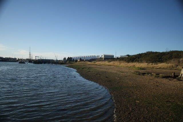 View west along Lake Lothing shoreline