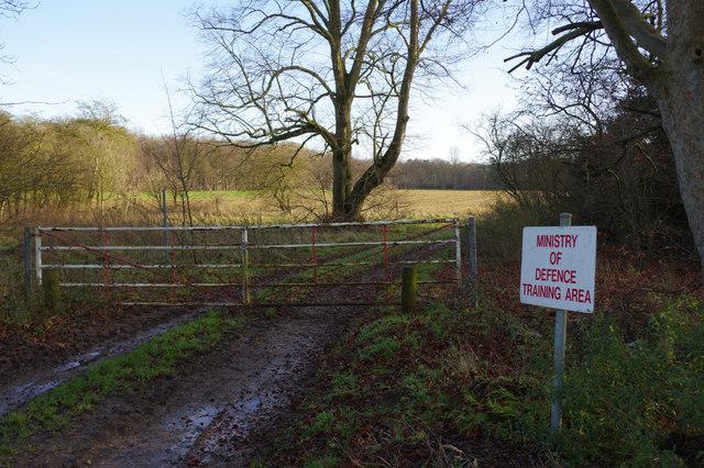 Training area near Croxton