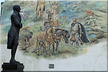 NS6113 : Rabbie Burns with Mural, New Cumnock by Billy McCrorie