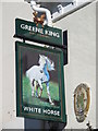 TL8741 : Sign for The White Horse, North Street, CO10 by Mike Quinn