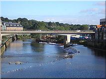 NZ2742 : A weir on the River Wear by Sandy Gemmill