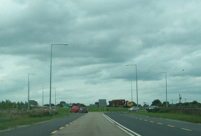 Roundabout at the cross roads of the N52 and L2025 east of Tullamore