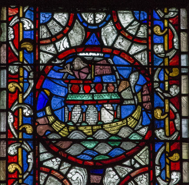 Noah's Ark in Stained Glass, Lincoln Cathedral