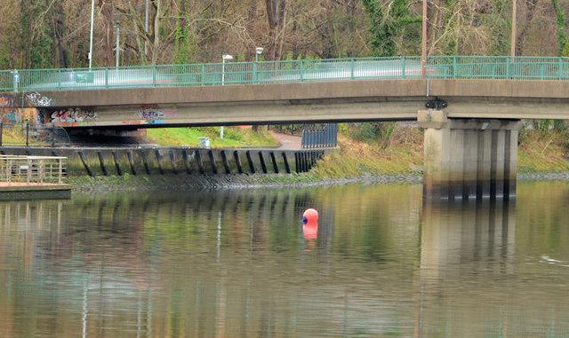 River Lagan, Governor's Bridge, Belfast