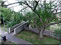SU1430 : Northern end of a railway footbridge to Marlborough Road, Salisbury by Jaggery
