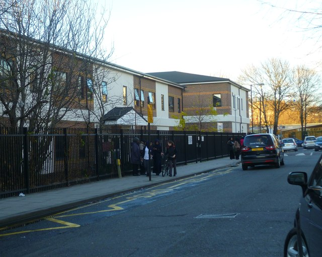 Bromley Street at the end of the school day