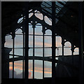 SJ8990 : Sunset clouds through the Market Hall by Alan Murray-Rust