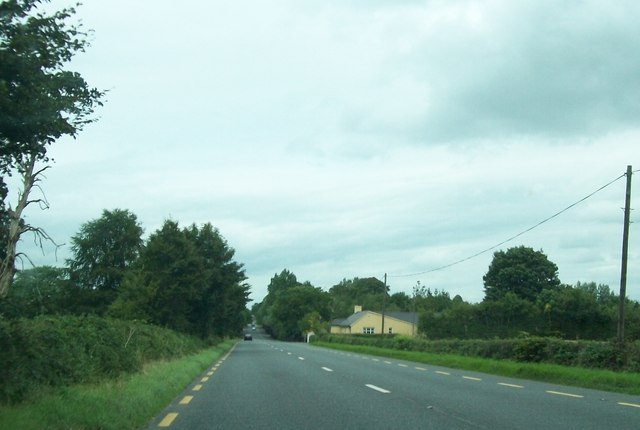 Bungalow alongside the N52 at Aghancarnan Townland