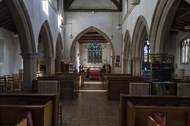 Interior, St Michael and All Angels, Billinghay